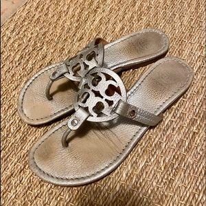 Tory Burch silver sandal
